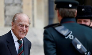 Prince Philip at his last official engagement in July last year.