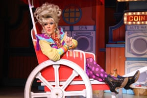 Lily Savage in Aladdin - A Wish Come True in December 2012 at the O2 in London.
