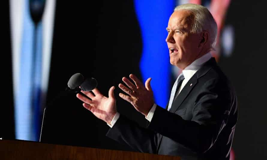 Joe Biden outlined plans during his victory speech in Wilmington, Delaware, on Saturday to announce a 12-member coronavirus taskforce on Monday.