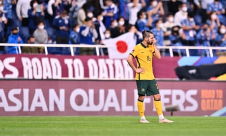 Socceroos hit first bump on road to Qatar after record winning streak ended by Japan | Joey Lynch