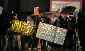 Protests against government deportation plansoutside Downing Street, London, on 10 February 2020.