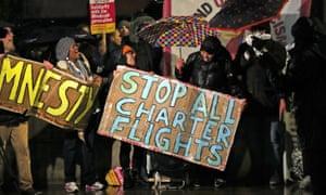 Protest over deportation plans