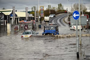 Floodwaters in Rotherham