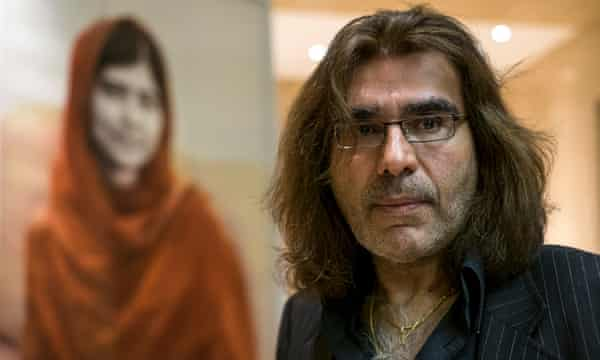 Artist Nasser Azam was inspired by Yousafzai's activism.