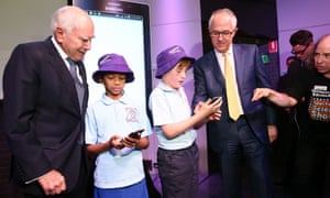 Malcolm Turnbull and John Howard at Questacon in Canberra on Tuesday 13 October 2015.