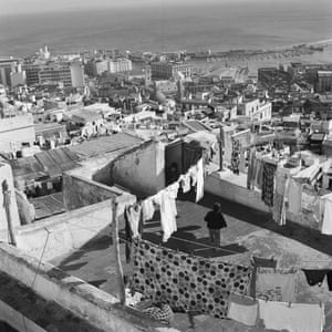 Looking across the rooftops of Oran towards the Mediterranean Sea.