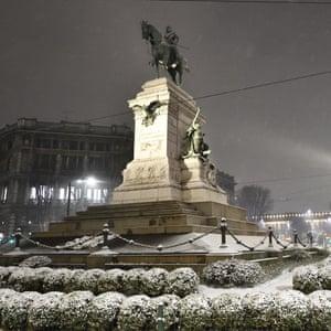 The monument dedicated to Giuseppe Garibaldi in Carioli Square, Milan