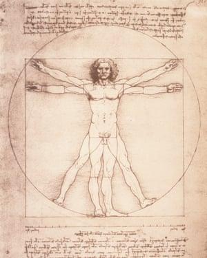 Leonardo Da Vinci's The Vitruvian Man.