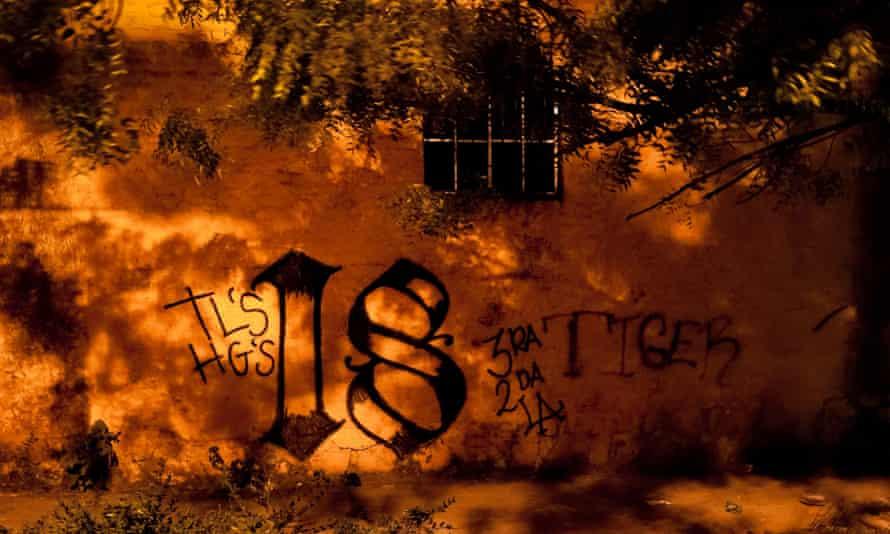 Barrio 18 gang tag