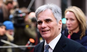 Austria's chancellor, Werner Faymann, arriving at an EU summit meeting in Brussels.