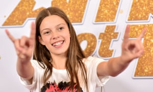 Courtney Hadwin at the final of America's Got Talent.