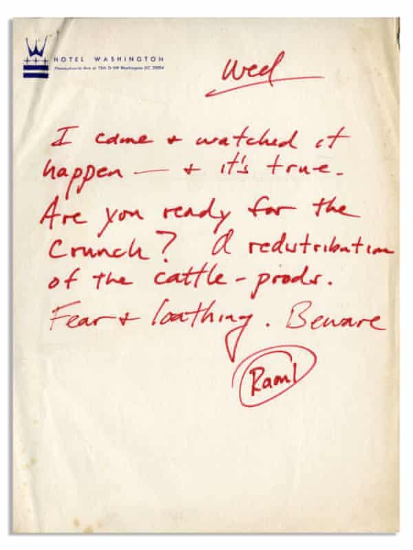 Hunter S Thompson post card - from auction in September 2018
