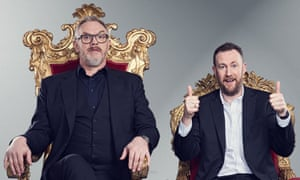 The Dave show Taskmaster, with Greg Davies (L) and Alex Horne
