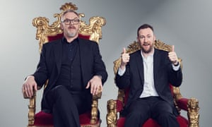 A game of thrones: Greg Davies and Alex Horne.