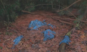 Lovely layers of leaves ruined by rubbish … The Uncovered Cover (detail) by George Shaw.