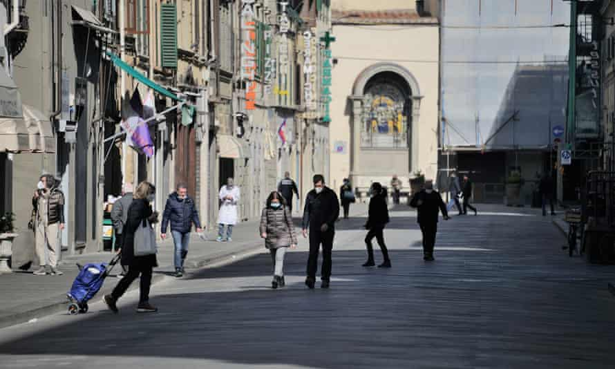 street scene in Florence, Italy
