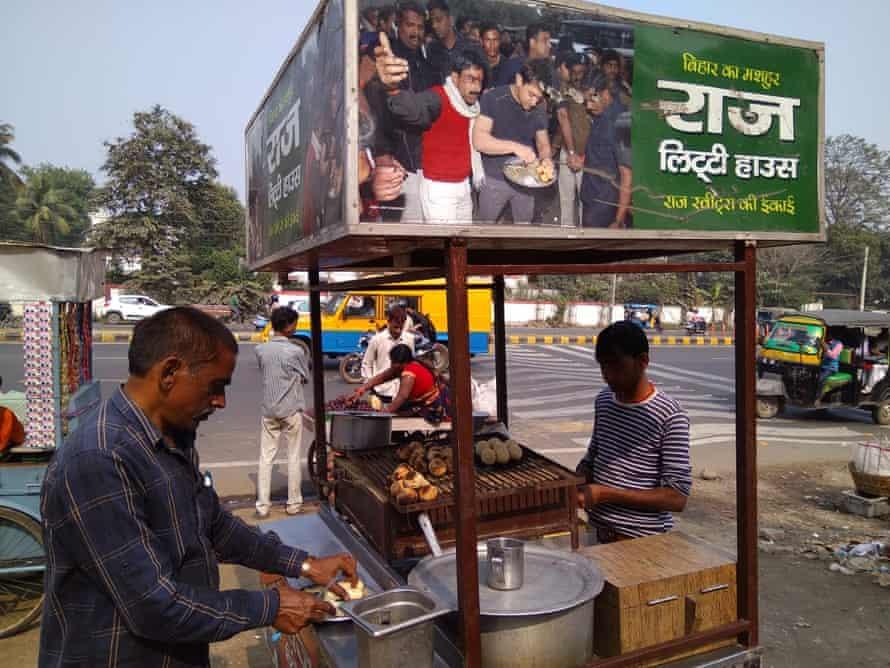 Street food vendor Brij Bihari Rai