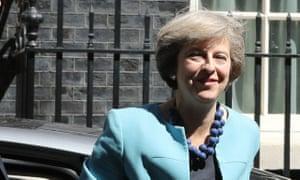 Theresa May outside 10 Downing Street.