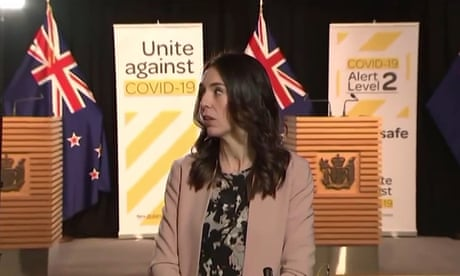 New Zealand PM Jacinda Ardern's live TV interview interrupted by magnitude-5.8 earthquake – video