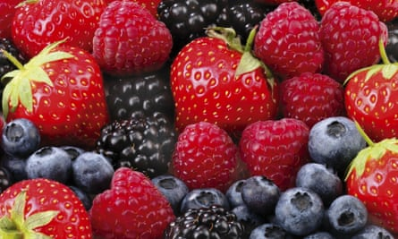 Growers trade body British Summer Fruits says sales of British strawberries, raspberries, blackberries and blueberries, pictured, will top £1bn this year, compared with about £300m in 2004.