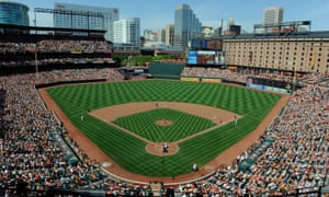 A general view of a game between the Baltimore Orioles and the Houston Astros at Camden Yards.