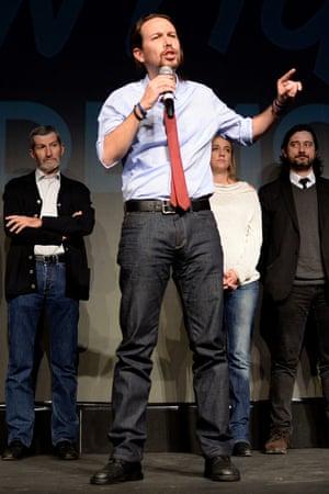 Pablo Iglesias: 'Podemos has changed the political language.