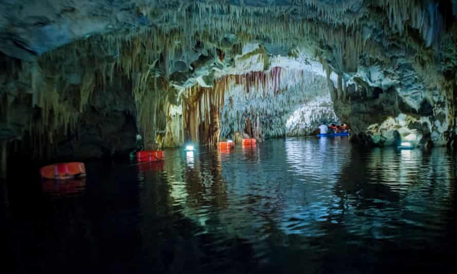 The caves of Diros.