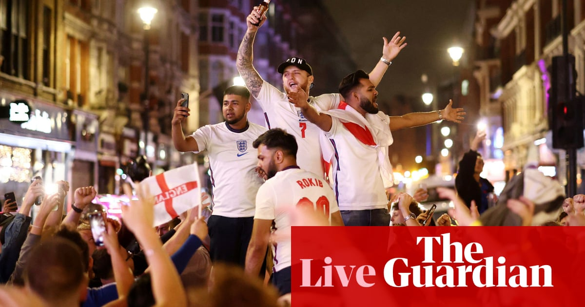 Euro 2020: England celebrations continue after reaching final – live!