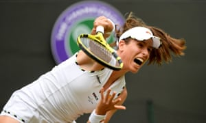 Johanna Konta ran away with the final set after initially struggling against Sloane Stephens on Wimbledon's No 1 Court.