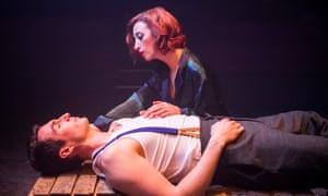 Kara Lily Hayworth as Maggie and James Darch as Casey in Maggie May, by Lionel Bart and Alun Owen, at the Finborough, London.