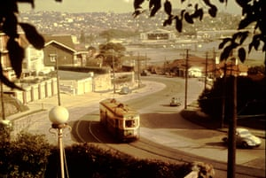 Approaching the sweeping curve of New South Head Road between Rose Bay and Vaucluse in 1956