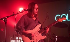 Vivid, startling lyrics ... Soccer Mommy playing in Brighton earlier this year.