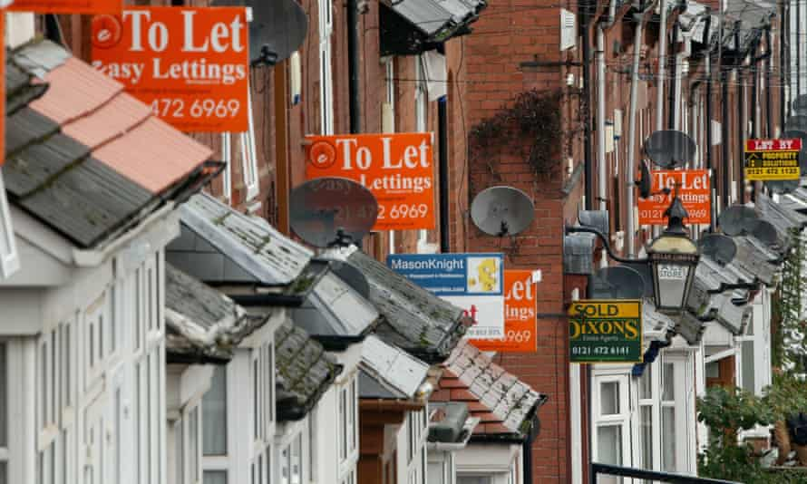 'To let' signs in Birmingham