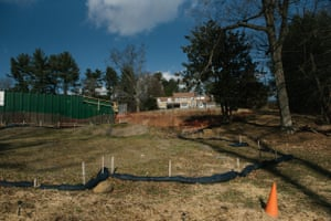 A residential home can be seen next to a Mariner East Pipeline HDD entry and exit point construction site in Media, PA. on Thursday, January 16, 2020. Residents living nearby believe the construction work from the pipeline is causing people to have contaminated water.