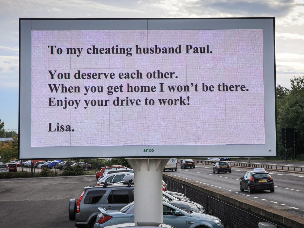 husband calls cheating wife