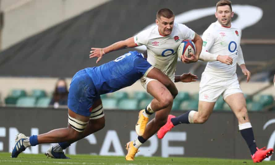 Henry Slade in action against France in the Autumn Nations Cup final in December.