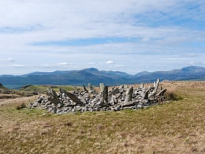 Bryn Cader Faner, a Bronze Age round cairn which lies to the east of the small hamlet of Talsarnau in the north of Snowdonia's Rhinog mountains