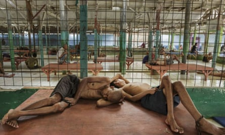 Residents at a rehabilitation centre for mentally ill people in Galuh, Indonesia. Shackling was banned in the country in 1977, but the practice remains widespread.