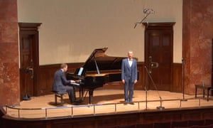 Immaculate diction... baritone Roderick Williams performs at the Wigmore Hall with pianist Joseph Middleton.
