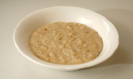 A bowl of porridge, of the type that you would not find inside a Welsh prison.