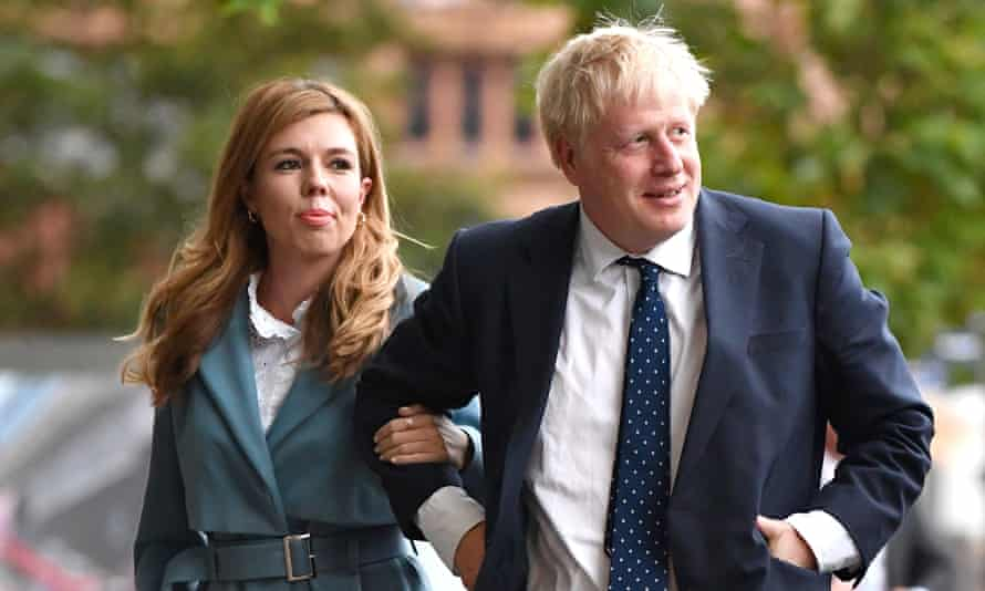 Carrie Symonds and Boris Johnson at the Conservative party conference in 2019.