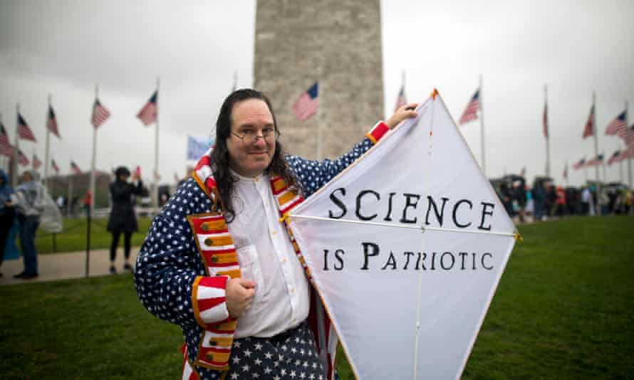 The March for Science in Washington DC. Members of the caucus say their goal is to depoliticize environmental policy in the US.