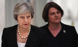 Theresa May and Arlene Foster.