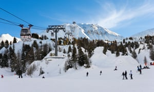The boy was skiing off piste at the La Plagne ski resort in a group when he was swept away by an avalanche.