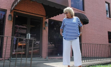 Diane Derzis stands outside a building she owns where abortions are performed in Birmingham, Alabama, in 2013.