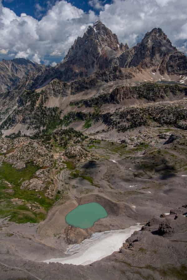 Grand Teton with Schoolroom Glacier.