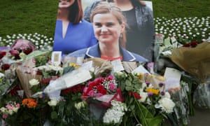 Floral tributes in London to Labour MP Jo Cox