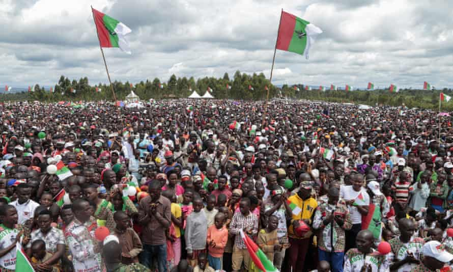 An election rally in Burundi on 27 April.