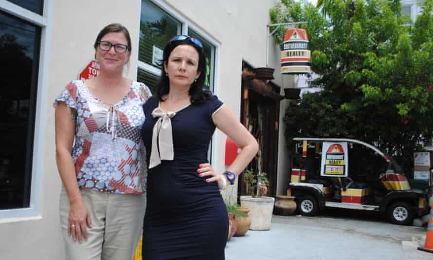 Meagan Hull, left, and real estate agent Mila de Mier both oppose genetically modified mosquitoes, and say they're willing to take the fight all the way.