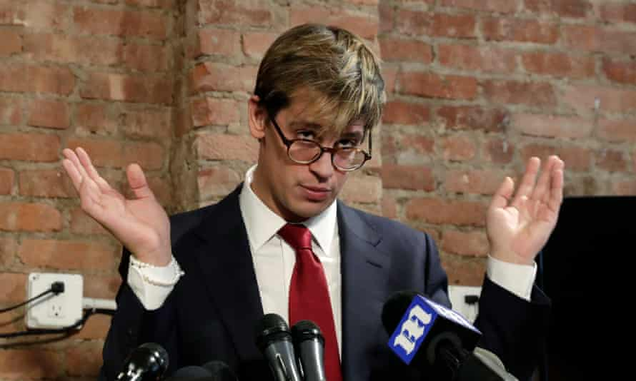 Milo Yiannopoulos, announcing his resignation from Breitbart after controversial comments he made in a video recently resurfaced.